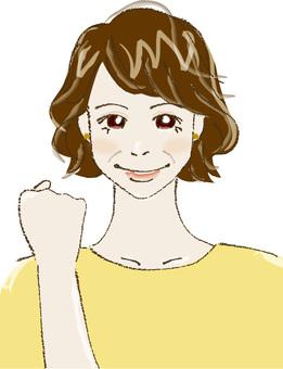 Female C (Guts pose)