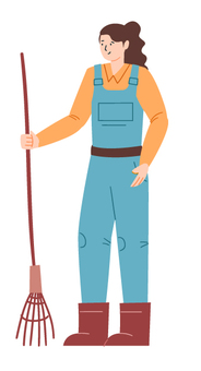 清潔工具的女人