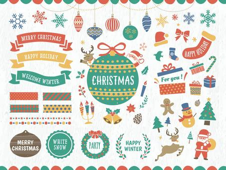 聖誕框架和裝飾設計方案集