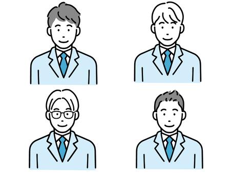 一組各種單純的男學生