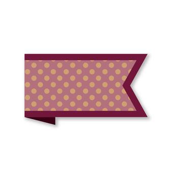 Ribbon banner with polka dots