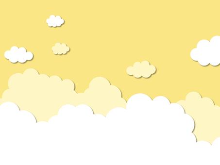 秋天的天空和雲彩背景素材