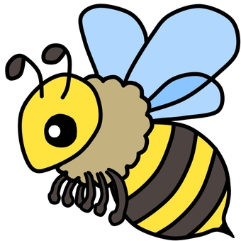 Cute bees (color)