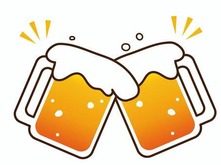 用啤酒打一個杯子的祝酒詞