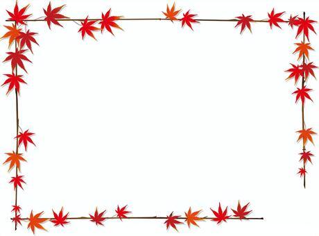 秋天的葉子框架