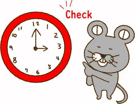 鼠標時間檢查