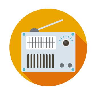 Flat icon - Radio