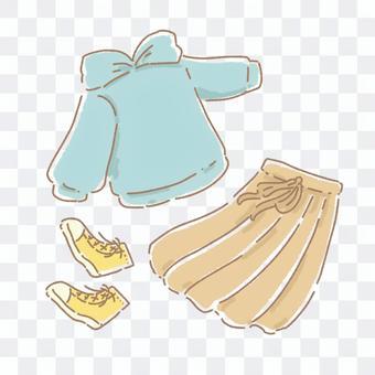 連帽衫和裙子的搭配