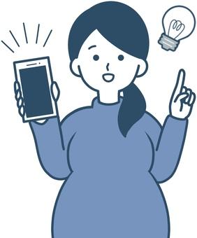 Convenient app for pregnant women with smartphones
