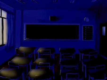 Loose classroom scenery / night