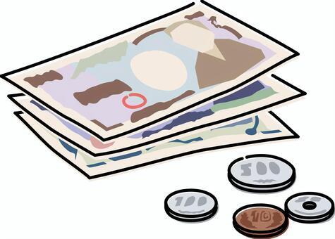 現金錢賬單硬幣