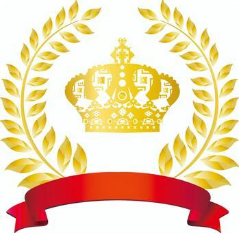 Crown Frame Ribbon Ribbon Red Free Illustration