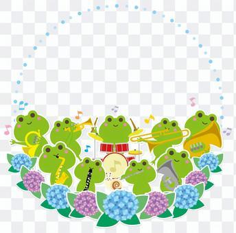 雨季音樂會青蛙銅管樂隊框架