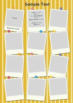 Pop Polaroid Photo Frame Yellow
