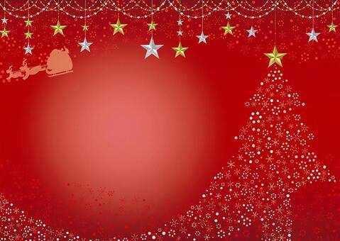 閃閃發光的聖誕樹卡