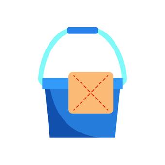 桶和布的形象