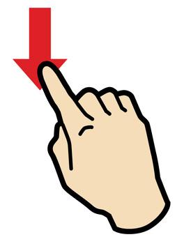 手指和智能手勢的滾動