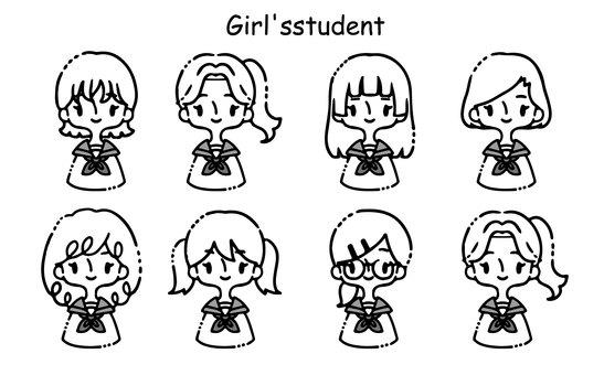 各種girls_sailor 套裝的插圖