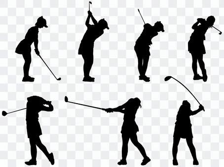 高爾夫剪影_set 2
