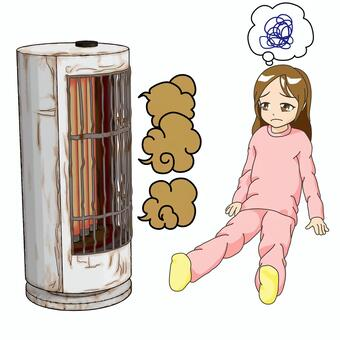 Breakdown ・ No graphite heater and girl background