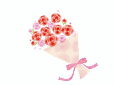 花束_玫瑰水彩風