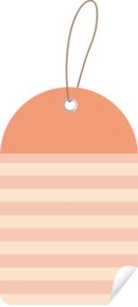 可愛的邊框標籤粉紅