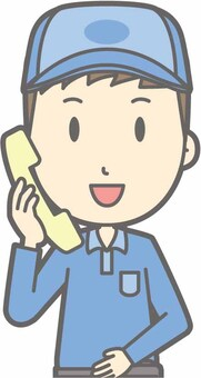 送貨人男 - 電話 - 胸圍