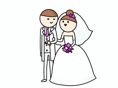 两个婚礼拥抱