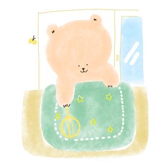 Bear to dry the futon