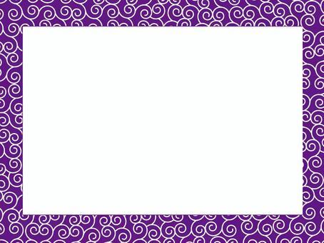 蔓藤花紋模式框架2