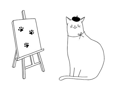 Neko's painting