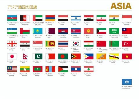 亞洲世界國旗001