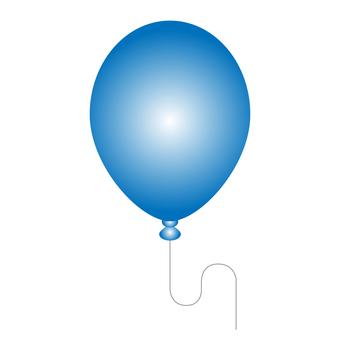 藍色氣球的插圖