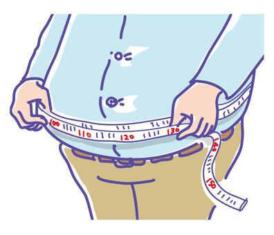 胖人測量腰圍