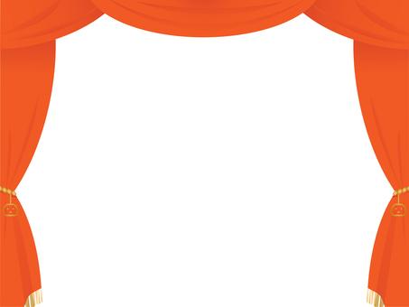 Halloween-style orange stage curtain
