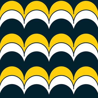 White, yellow and dark blue wave pattern