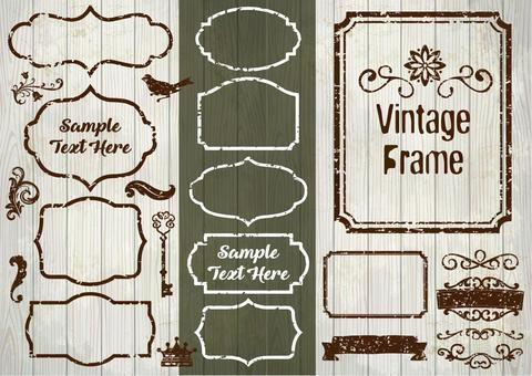 Vintage frame frame set