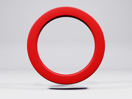 Background of three-dimensional round mark