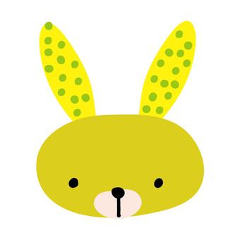 Dot pattern rabbit