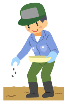 農業-種まき