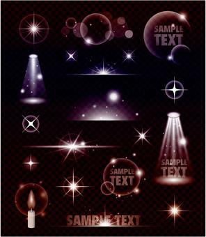 It is a transparent light effect SET