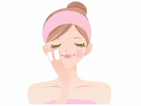 面部護理/組成的女性
