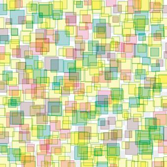 方形隨機幾何炫彩花紋