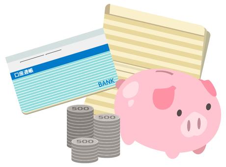 儲蓄500日元(存摺藍色