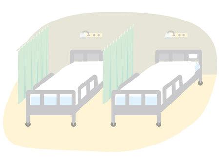 医院房间2张床