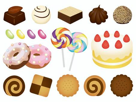糖果插圖素材