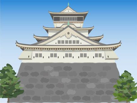 Fukuoka Kokura Castle with background