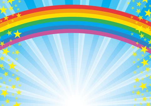 彩虹和輻射的插圖