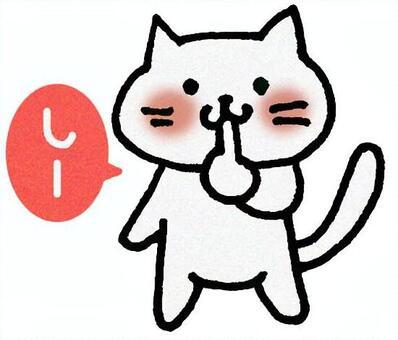 請安靜的貓