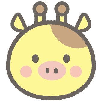可愛的動畫長頸鹿
